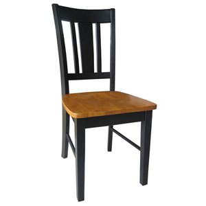 Dining Essentials Black and Cherry San Remo Splatback Chairs- Set of Two