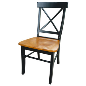 Dining Essentials Black and Cherry Set of Two Chairs