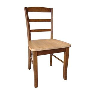 Madrid Cinnamon w/ Espresso Ladderback Chair Set of Two