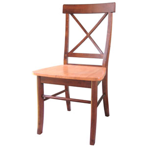 Dining Essentials Cinnamon and Espresso Set of Two Chairs