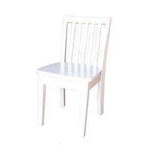 Juvenile Linen White Set of Two Mission Juvenile Chairs