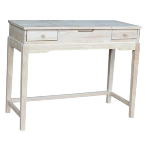 Home Accents Unfinished Wood Vanity Bench Unfinished