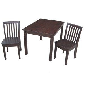 Juvenile Java Table with Two Mission Juvenile Chairs