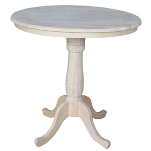 Unfinished 36-Inch Round Pedestal Counter Height Table