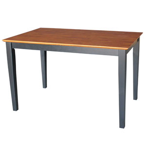 Black And Cherry 48 x 30-Inch Solid Wood Dining Table