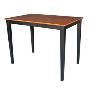 Black And Cherry 48 x 36-Inch Solid Wood Counter Height Table