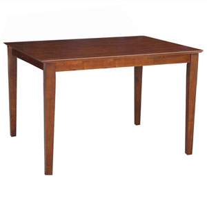 Dining Espresso 48 x 30-Inch Solid Wood Top Table with Shaker Legs