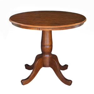 Dining Espresso 30-Inch Tall, 30-Inch Round Top Pedestal Table
