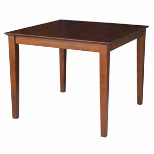 Dining Espresso 36 x 30-Inch Solid Wood Top Table with Shaker Legs