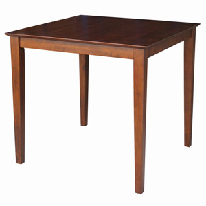 Dining Espresso 36 x 36-Inch Solid Wood Top Table with Shaker Legs