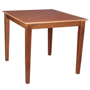 Cinnamon And Espresso Solid Wood Dining Table