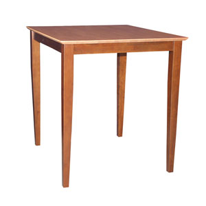 Cinnamon And Espresso 36-Inch Solid Wood Counter Height Table