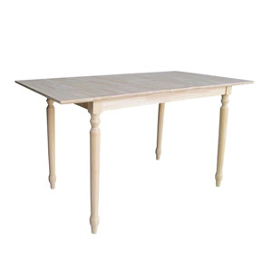 Unfinished Counterheight Table with Butterfly Extension