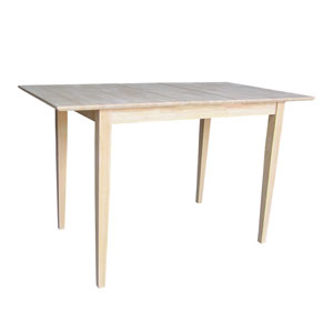 Unfinished 48 x 36-Inch Counterheight Table with Butterfly Extension
