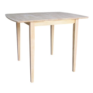 Unfinished 36-Inch Counterheight Table with Butterfly Extension