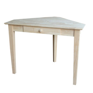 Home Accents Unfinished Wood Keystone Accent Table Unfinished
