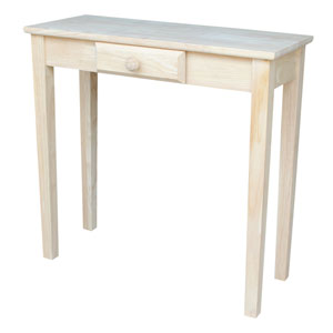 Rectangular Unfinished Table with Drawer