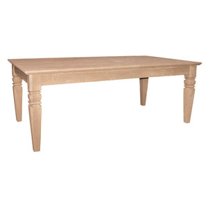 International Concepts Occasional Unfinished Wood Sofa