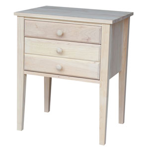 Home Accents Unfinished Wood Accent Table with Drawers