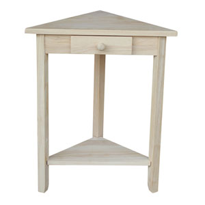 Unfinished Corner Accent Table