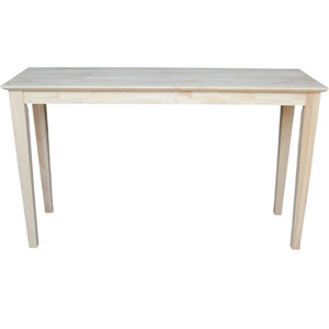 Shaker Unfinished Wood Sofa Table
