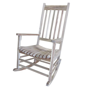 Porch Rocker Unfinished- Solid Wood