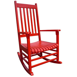Porch Rocker Red Porch Rocker