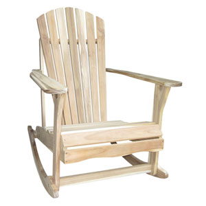 Shop Kids Unfinished Wooden Rocking Chair Bellacor