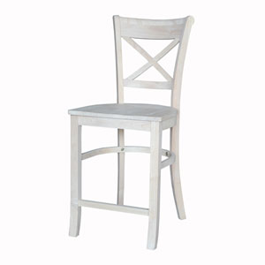 Unfinished 24-Inch Charlotte Counter Height Stool
