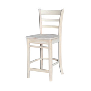 Unfinished 24-Inch Emily Counter Height Stool
