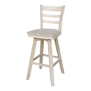 Charlotte Barheight Stool with Swivel and Auto Return - Unfinished
