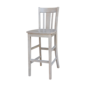 San Remo Barheight Stool in Washed Gray Taupe