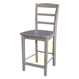 Madrid Counterheight Stool in Washed Gray Taupe