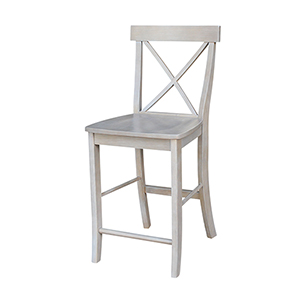 X-back Counterheight Stool in Washed Gray Taupe