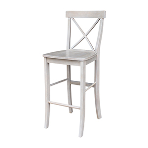 X-back Barheight Stool in Washed Gray Taupe