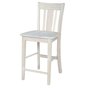 Seating-Stools Unfinished Wood San Remo Stool