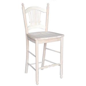 Seating-Stools Unfinished Wood Sheafback Stool