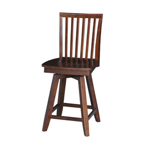 Unfinished Mission Counter Height Stool with Swivel