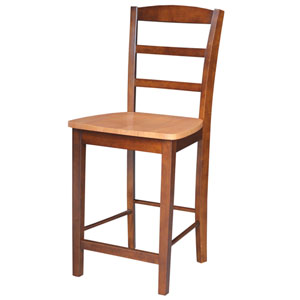 Dining Essentials Cinnamon and Espresso Madrid Counter Height Stool