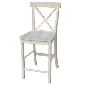 Seating-Stools Unfinished Wood 24 Inch Seat Height