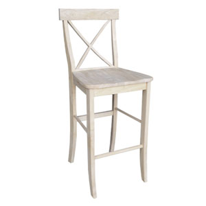 Seating-Stools Unfinished Wood 29 Inch Seat Height