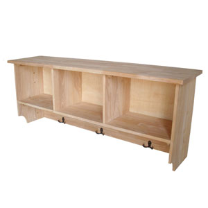 Unfinished Wall Shelf Unit
