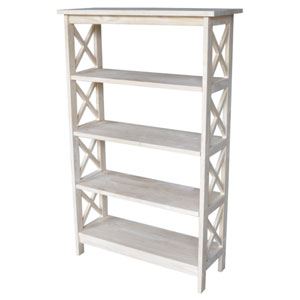 Home Accents Unfinished Wood Four Tier Shelf