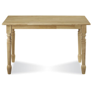 Natural 30 x 48 Solid Wood Table