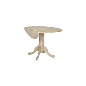 Round Dual Drop Leaf Natural Table