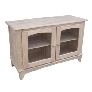 TV Stand with Glass Doors