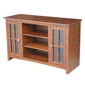 Espresso 48-inch TV Stand with Two Doors