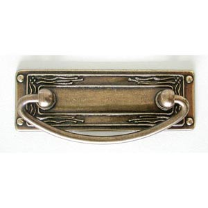 Antique Brass Drop Pull with Backplate