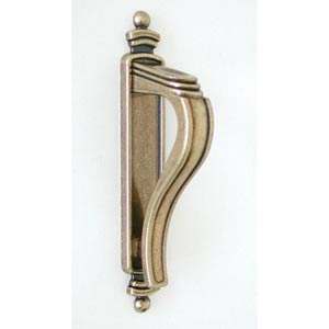 Antique Brass Latch Handle with Backplate