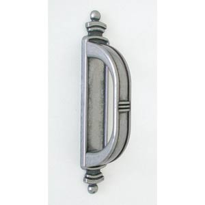 Antique Pewter Small Latch Handle with Backplate